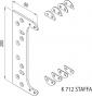Záves na bezfalcové dvere K7120