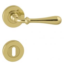Kľučka CARINA 2 - R - OLV - Mosadz leštená a lakovaná