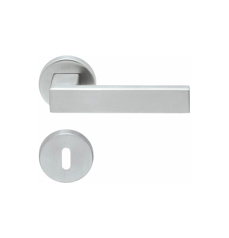 Kľučka SP - QUADRA - R PB1005 (PullBloc) - BN - Brúsená nerez