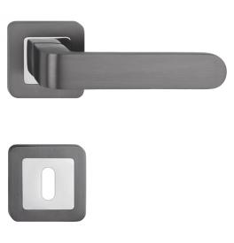 Kľučka METAL-BUD RIO - HR - OC / G - Chróm lesklý / grafit