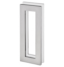 Mušla na sklenené posuvné dvere JNF IN.16.558.A - Brúsená nerez