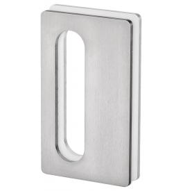 Mušla na sklenené posuvné dvere JNF IN.16.564.A - Brúsená nerez