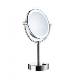 Zrkadlo zväčšovacie 5 násobné, výklopné s podsvietením SMEDBO Chróm lesklý